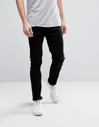 Only And Sons Slim Fit Stretch Jeans In Black Black
