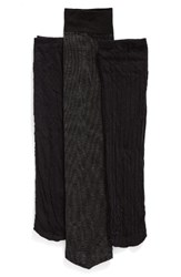 Nordstrom Women's Pattern Trouser Socks Black Windowpane
