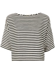 Bellerose Striped Half Sleeve Tee Nude And Neutrals