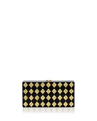Milly Diamond Box Clutch Multi Gold