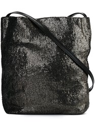 Ann Demeulemeester Metallic Effect Crossbody Bag Black