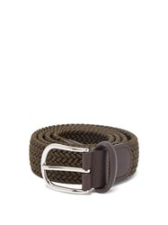 Anderson's Woven Elasticated Belt Dark Green