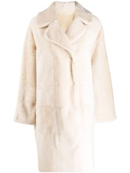 Drome Reversible Double Breasted Coat Neutrals