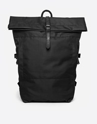 Religion Backpack With Roll Top Black