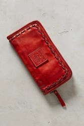 Anthropologie Rosso Woven Wallet Wine