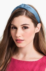 L. Erickson 'Narrow Knot' Turban Headband Blue Cloud
