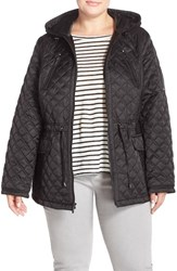 Plus Size Women's Laundry By Shelli Segal Hooded Quilted Drop Tail Jacket