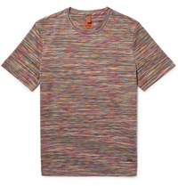 Missoni Slim Fit Space Dyed Knitted Cotton T Shirt Orange