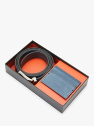Ted Baker Thork Belt And Card Holder Gift Set One Size Blue