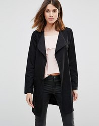 Vila Belted Duster Coat Black