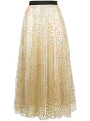 Manoush Sheer Skirt Gold