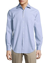 Breuer Cotton Casual Button Down Shirt Light Blue