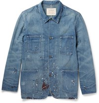 Levi's Levi' Vintage Clothing Paint Plattered Denim Jacket Blue
