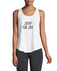 Kate Spade Jump For Joy Performance Tank White