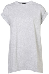 Oversized Roll Sleeve Tee Jersey Tops Clothing Topshop