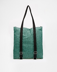 Asos Canvas Shopper Bag With Backpack Strap Leopard