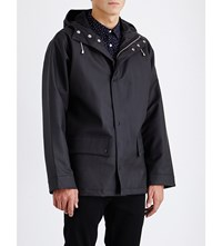 Sandro Slick Knit Waxed Jacket Black