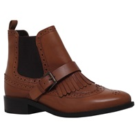 Miss Kg Stirling Chelsea Buckle Ankle Boots Tan
