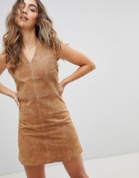 Pepe Jeans New Clare Real Suede Dress Brown
