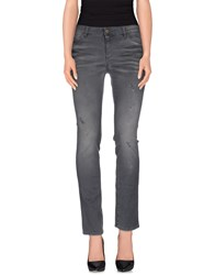 Superfine Denim Denim Trousers Women Grey
