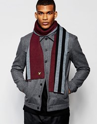 Lyle And Scott Jacquard Scarf Red
