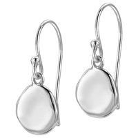 Dower And Hall Pebble Drop Earrings Silver