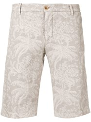 Etro Floral Print Chino Shorts Grey