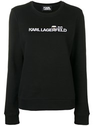 Karl Lagerfeld Ikonik And Logo Sweatshirt Black