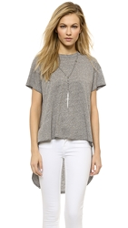 The Great. The Shirttail Tee Heather Grey