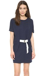Shades Of Grey Judo Belt Bag Dress Navy White Stripe