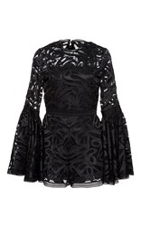 Alexis Rihanna Flared Lace Romper Black