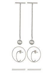 Pieces Pcharriet Set Earrings Silvercoloured