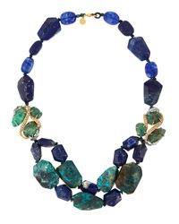 Alexis Bittar Mixed Bead Layered Statement Necklace