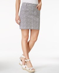 Tommy Hilfiger Printed Chino Mini Skirt Eclipse Multi