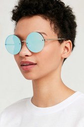 Urban Outfitters Mermaid Round Sunglasses Blue