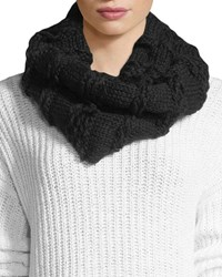 Rebecca Minkoff Chunky Knit Neck Warmer Black