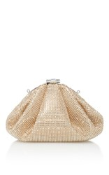 Judith Leiber Couture Enchanted Crystal Embellished Satin Clutch Gold