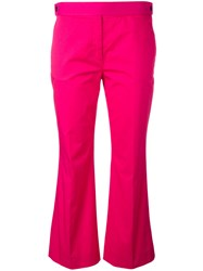 N 21 No21 Flared Cropped Trousers Pink Purple