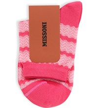 Missoni Wavy Ankle Sock 0006 Red Pink
