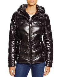 Laundry By Shelli Segal Hooded Quilted Puffer Jacket Black