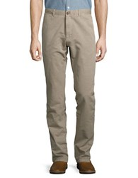 Strellson Rye D Cotton And Linen Pants Dark Brown