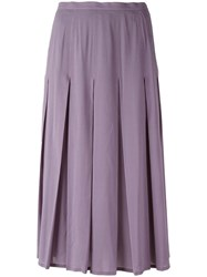 Dolce And Gabbana Vintage Pleated Skirt Pink Purple