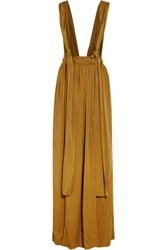 Lanvin Washed Satin Maxi Skirt Saffron