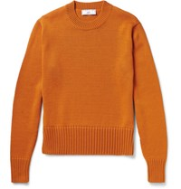 Ami Alexandre Mattiussi Wool Blend Sweater Orange