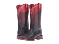 Ariat Ombre Wide Square Ombre Red Lizard Print Cowboy Boots Black