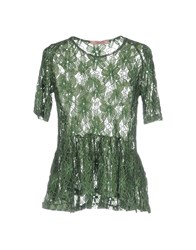 Rose' A Pois Blouses Military Green