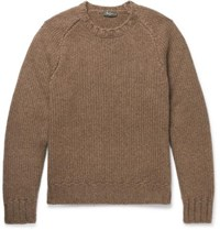 Berluti Ribbed Cashmere Sweater Taupe