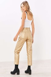 Bdg Girlfriend Vegan Leather Pant Gold