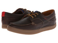 Fitflop Monty Boat Moc Leather Chocolate Men's Shoes Brown