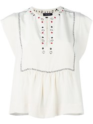 Isabel Marant Eyelet Detail Blose Nude And Neutrals